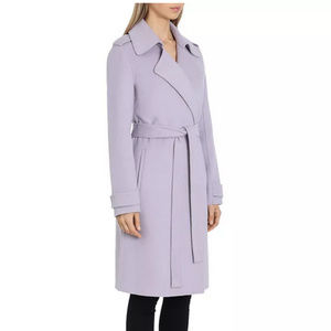 VIA SPIGA L&T LILAC PURPLE WOOL COAT JACKET 2 EUC
